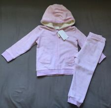 Baby Girl 18-24 Months H&M Marled Pink Heart Pocket Zip Up Hoodie & Jogger Pants