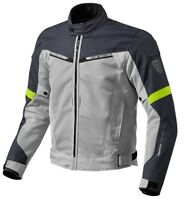 GIACCA JACKET TRAFORAT MOTO REVIT REV'IT AIRWAVE 2 ESTIVA SILVER GIALLO FLU TG M