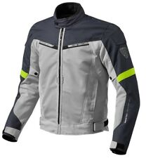 GIACCA JACKET TRAFORAT MOTO REVIT REV'IT AIRWAVE 2 ESTIVA SILVER GIALLO FLU TG L