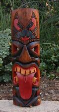 """Tahitian Tongue Tiki Wood Wall Mask Patio Tropical Bar Decor 20"""" tall"""