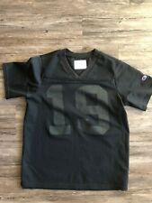 VINTAGE CHAMPION FOOTBALL JERSEY Black 19 BLANK SIZE Medium M MENS