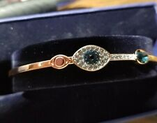 Swarovski Duo Evil Eye Bangle Rose gold-plated blue/clear crystal Mib 5171991