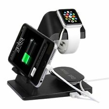 Supporto per carica display stand NERO per Apple Watch 38mm & 42mm / iPhone 6 6