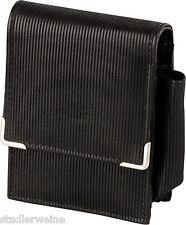 Portasigarette Sguardo cuoio nero / Tasca accendino esterno / grande scatola