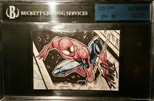 Stan Lee Signed 2014 UD Marvel Premier AUTO Spiderman Sketch Card 2 Panel JSABGS