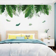 Summer Green Leaf Wall Sticker Background Living Room Art Decal DIY Home LGKQ