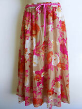 Polyester Hand-wash Only Floral Maxi Skirts for Women