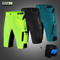 Mens Baggy Cycling Shorts Padded Underwear MTB Mountain Bike Casual Half  Pants