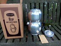 Vintage West Bend Aluminum Kwik Drip Coffee Maker Pot 18 Cup Stove Top IOB NOS