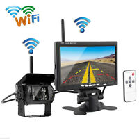 "7"" Monitor Wireless IR Rear View Back up Camera Night Vision System for RV Truck"