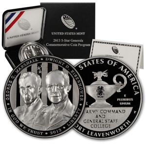 2013 5-Star General Commemorative Silver Dollar Proof