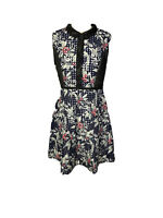 Apple & Eve Womens Size M Fit And Flare Dress Large Floral Print