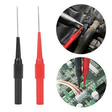 2PCS 0.7mm Multimeter Test Lead Probe Extention Back Piercing Needle Test Probes