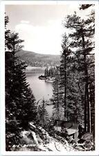 RPPC BIG BEAR LAKE, CA   LAKESIDE CABIN View     1946  Frasher Postcard