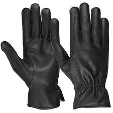 Hugger Mens Deerskin Water Resistant Leather Gloves Driving, Motorcycle, Riding