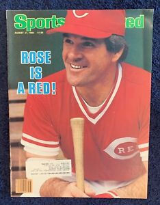8.27.84 PETE ROSE Sports Illustrated  CINCINNATI REDS 🌹 IS A RED