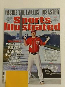 2013 BRYCE HARPER~SPORTS ILLUSTRATED SI~WASHINGTON NATIONALS~JERRY BUSS~LAKERS