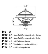Thermostat Kühlmittel - Wahler 4116.87D1