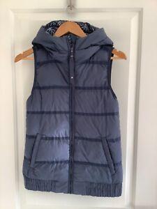 Reversible Lululemon Grey Hooded Puffer Vest, Size 4 US 8