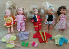 Lot of 5 Vintage Kelly Clone Friends Dolls & Clothes~ Kid Core~Simba