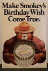 "Smokey Bear 40th Anniversary Birthday Poster 13"" x 17.5"""