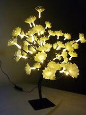 48 LED 45CM WARM WHITE LED BONSAI CHAMPAGNE FIBRE OPTIC FLOWER CHRISTMAS TREE
