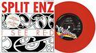 "SPLIT ENZ - I SEE RED - RARE 7"" 45 RED VINYL RECORD w PROMO PICT SLV - 1989"