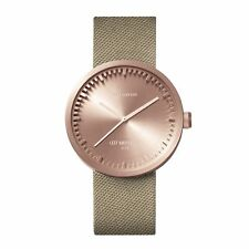 Leff Amsterdam LT71033 D38 Rose Gold Tone Tube Cordura Wristwatch