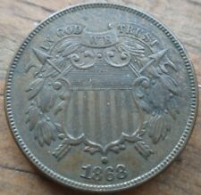 1868 Two Cent Piece Civil War Era MS Brown Uncirculated Original
