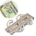 Stainless Steel Silver Money Clip Slim Wallet Credit ID Card Cash Note Holder