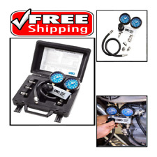 Cylinder Leakage Tester Kit Quickly Diagnose Internal Engine Problems Dual Gauge