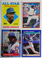 1987-91 Baseball Cards Andre Dawson Score Topps Donruss Lot of 4