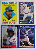 1987-91 Baseball Cards Andre Dawson Score Topps Donruss Lot of 4