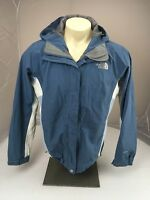 The North Face HYVENT Full Zip hooded Waterproof Vented Jacket Large Blue white