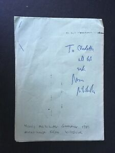 NORRIS McWHIRTER - GUINNESS BOOK OF WORLD RECORDS - SIGNED LEAFLEY