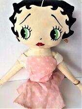 KellyToy Betty Boop Pink Ballerina Stuffed Cloth Doll 1999 White Hearts Garter