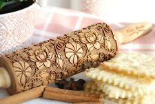 Paisley Engraved Rolling Pin Embossed Dough Roller Carved molds Cookies cutter