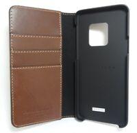 Platinum - Folio Leather Wallet Case for Samsung Galaxy S9 - Bourbon
