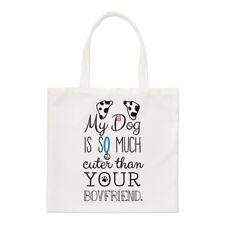 Il mio cane è più carino che il tuo Fidanzato Dalmation Small Tote Bag-spalla
