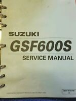 SUZUKI GSF600S BANDIT 00-04 FACTORY SERVICE MANUAL USED