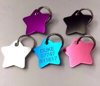 Pet ID Tag Dog Cat Star FREE ENGRAVING