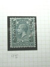 BRITISH BECHUANALAND POSTAGE STAMP SG95 KGV FOUR PENCE GREY GREEN UNUSED