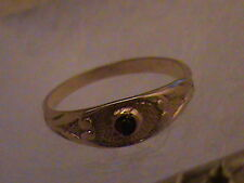 Beautiful 10k Gold Brown Stone Baby Ring
