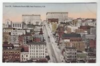 [52344] OLD POSTCARD CALIFORNIA STREET HILL IN SAN FRANCISCO, CALIFORNIA