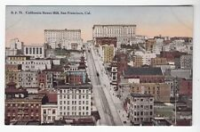 [52344] Old Postcard California Street Hill In San Francisco, California