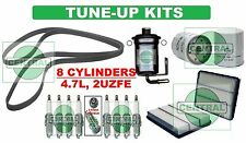 TUNE UP KITS 98-09 GX470 LX470 LAND CRUISER: SPARK PLUGS, BELT & FILTERS