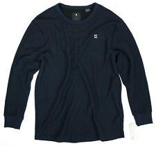 ac1b78184d G Star Raw Men s Bonded Relaxed Shirt Dark Navy Blue Black Sweater Size XL