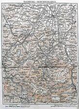 XXSec.Antica Topografica=Plan di SALZBURG-BERCHTESGATEN AUSTRIA.100.Passepartout