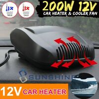 200W Auto Heater DC12V Car Truck Portable Heating Cooling Fan Defroster Demister