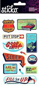 COAST TO Coast Sticko Stickers Holidays Vacation Road Trip Pitt Stop
